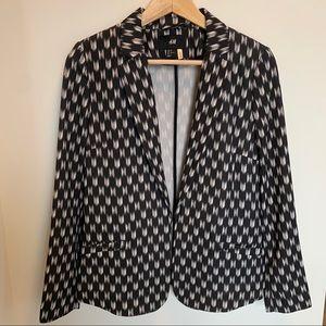 NWOT H&M black & white patterned blazer